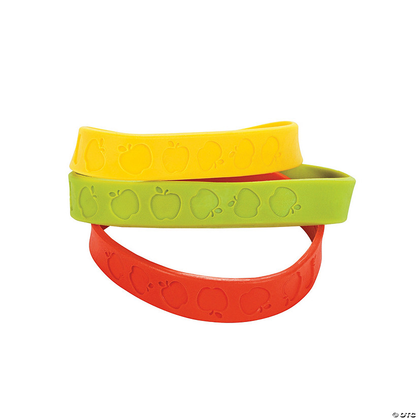 Apple Rubber Bracelets Image Thumbnail
