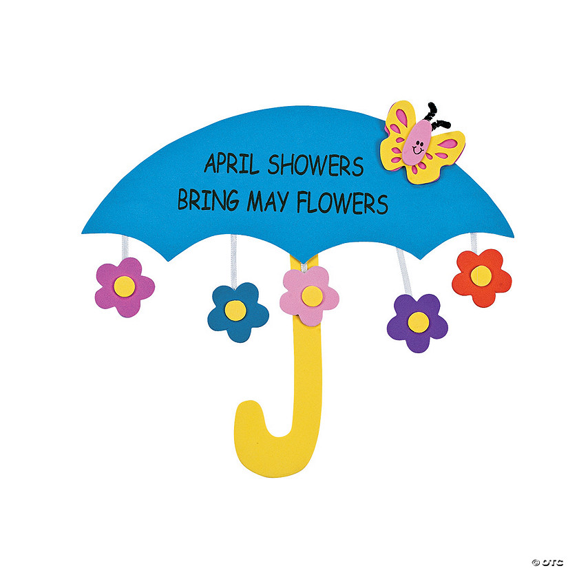 April Showers Bring May Flowers Sign Craft Kit Image Thumbnail