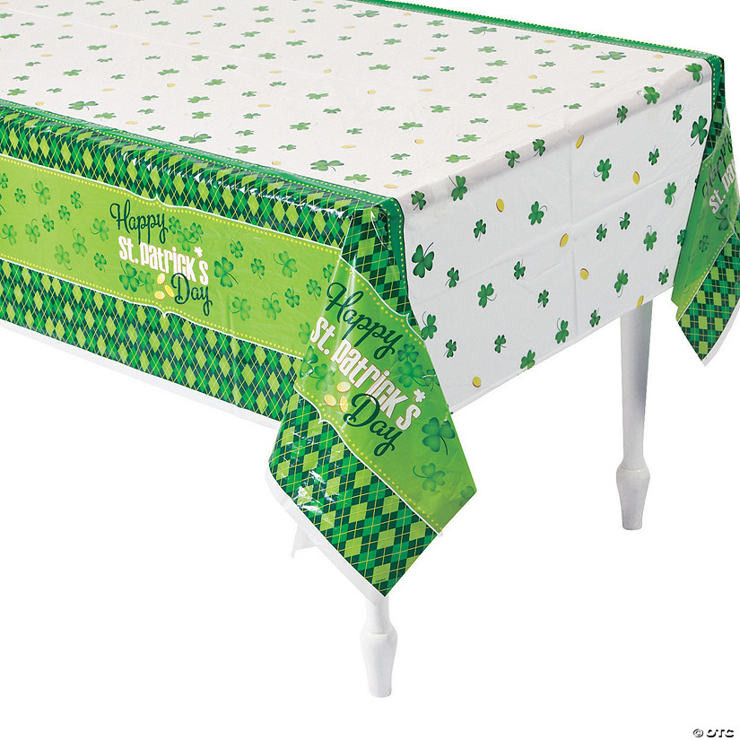 Argyle St. Patrick's Day Plastic Tablecover