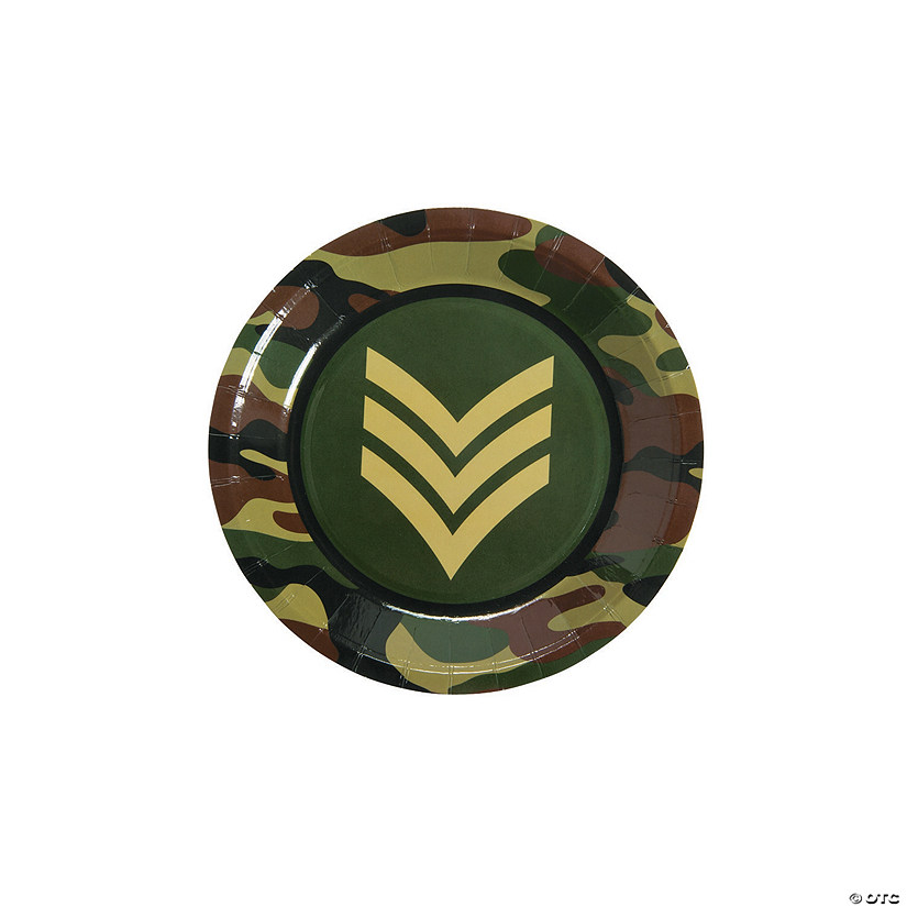 Army Paper Dessert Plates - 8 Ct. Audio Thumbnail