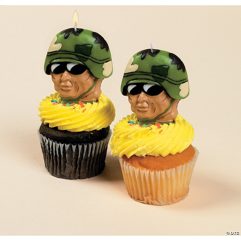 Army-Shaped Cake Topper Candles - Discontinued