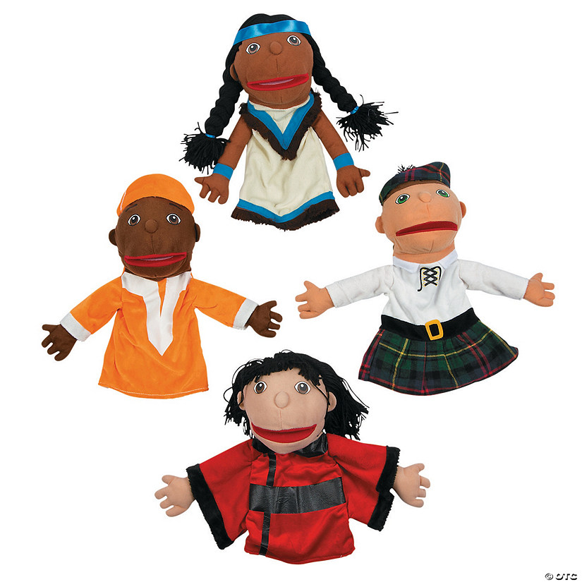 Around the World Happy Kids Plush Hand Puppets Set 2