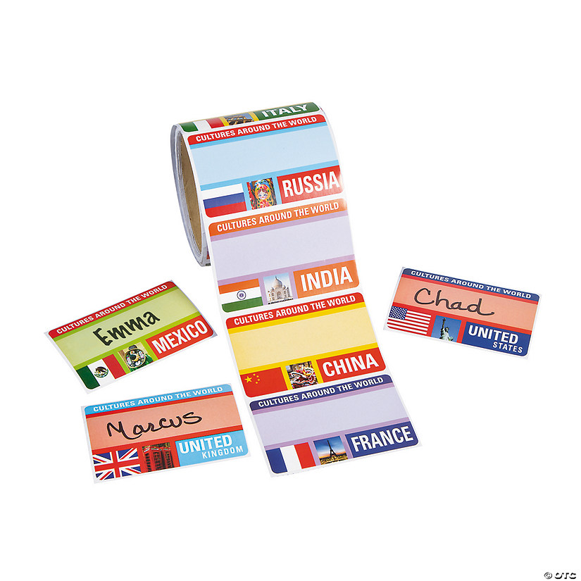 Around the World Name Tags/Labels Image Thumbnail