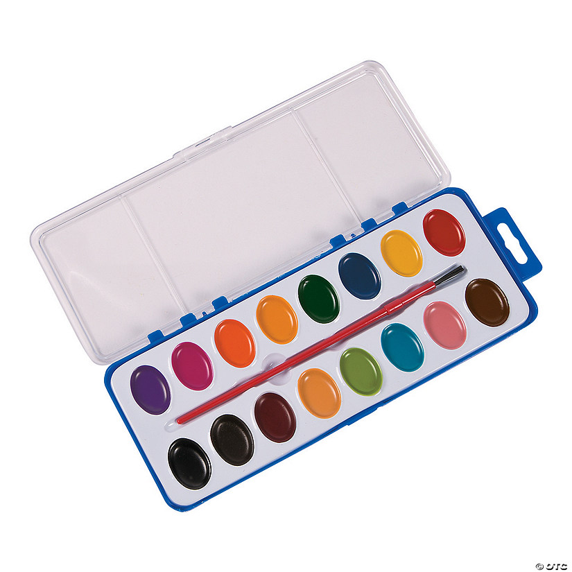 Assorted Colors Watercolor Paint Trays - Set of 16 Audio Thumbnail