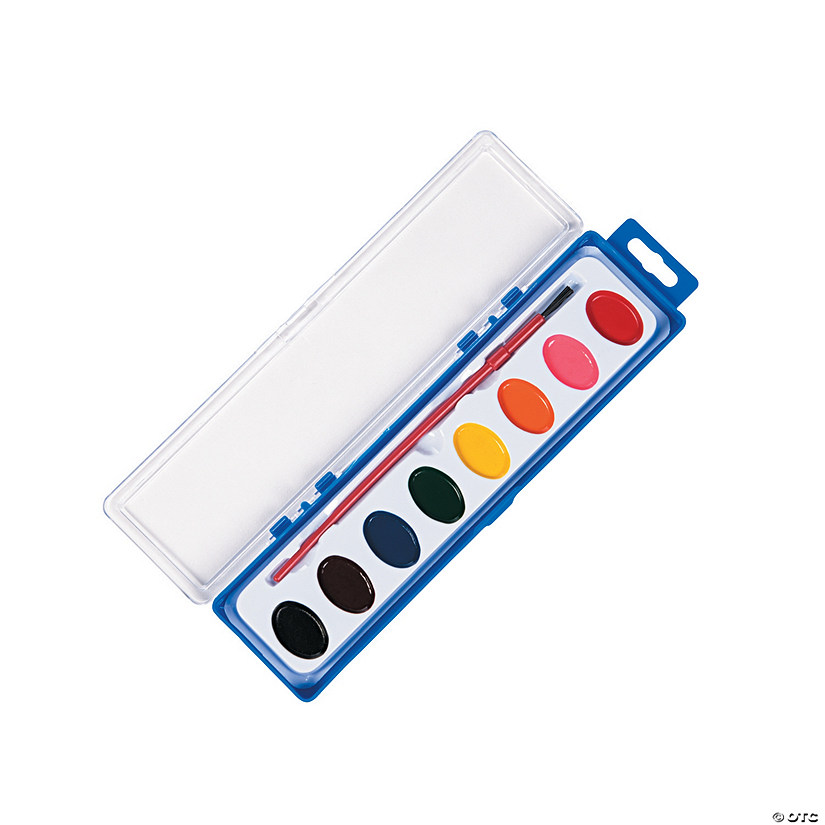 Assorted Colors Watercolor Paint Trays - Set of 8