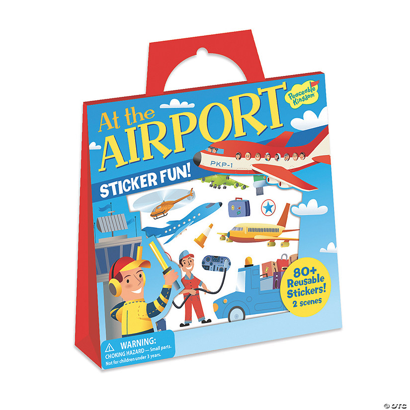 At The Airport Reusable Sticker Tote Image Thumbnail
