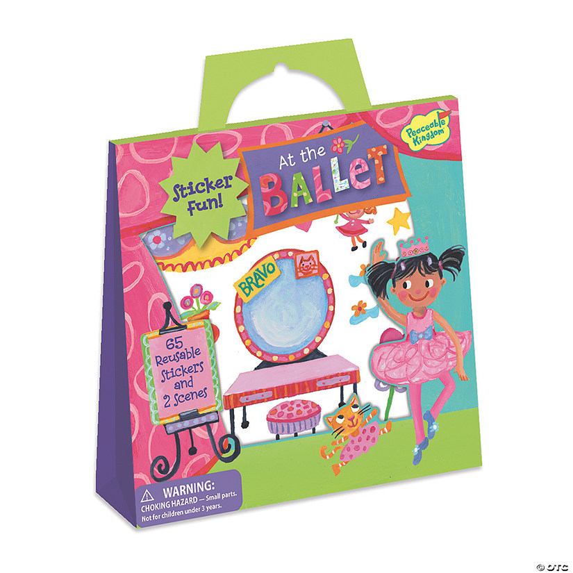 At The Ballet Reusable Sticker Tote Image Thumbnail