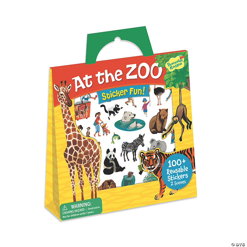 At The Zoo Reusable Sticker Tote Audio Thumbnail
