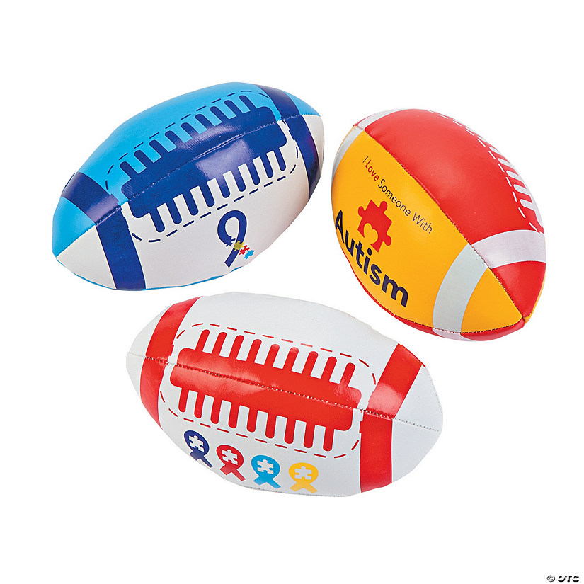 Autism Awareness Football Assortment