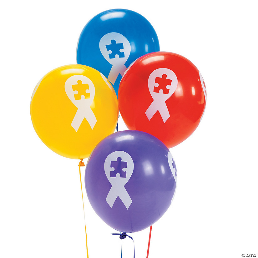 "Autism Awareness Ribbon 11"" Latex Balloons Audio Thumbnail"