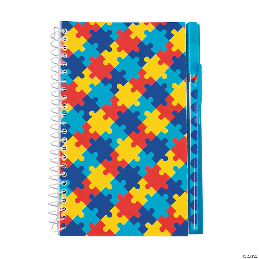 Autism Awareness Spiral Notebooks with Pens