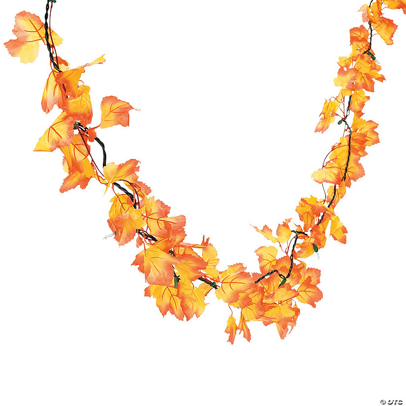 Autumn Leaves String Lights Image Thumbnail
