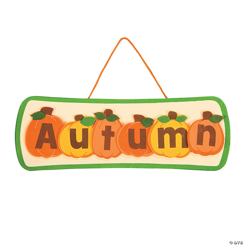 Autumn Pumpkin Sign Craft Kit Audio Thumbnail