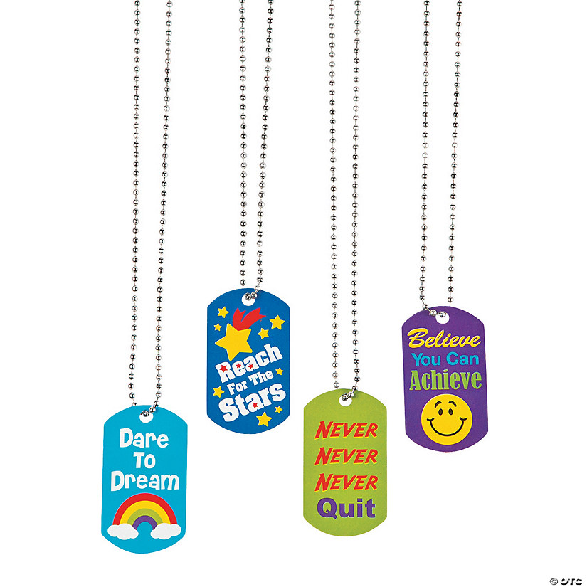 Award Dog Tag Necklaces
