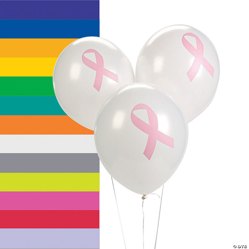 Awareness Ribbon Latex Balloons