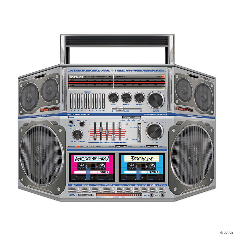 Awesome 80s Boombox Cardboard Stand-Up Audio Thumbnail