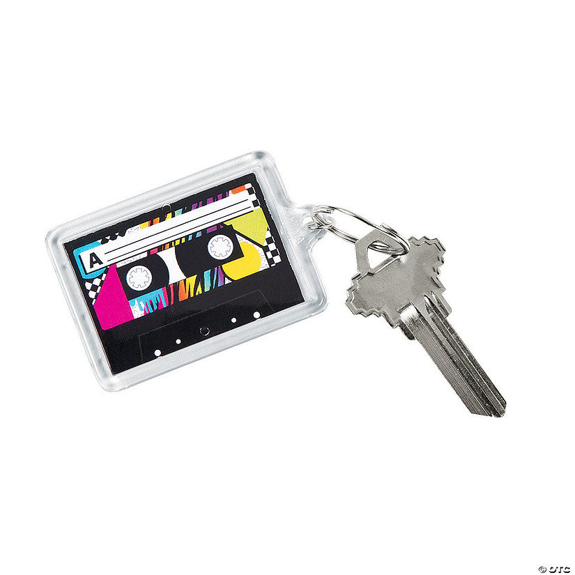 Awesome 80s Theme Picture Frame Keychains Audio Thumbnail