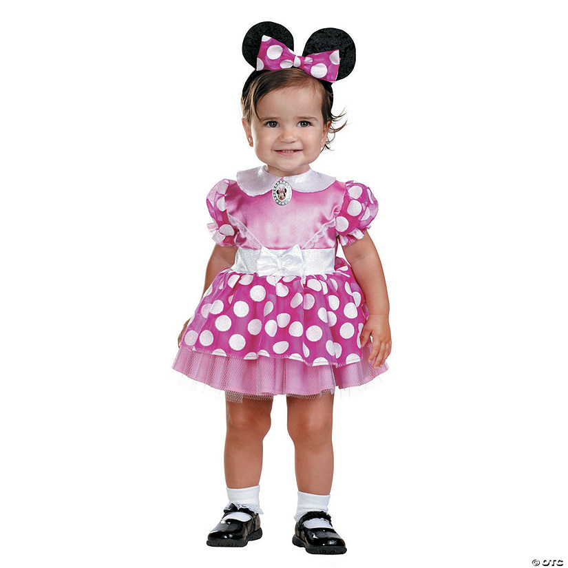 Baby Girl's Pink Minnie Mouse™ Costume Audio Thumbnail