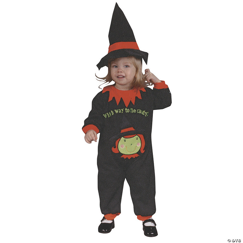 Baby Girl's Witch Jumpsuit Costume