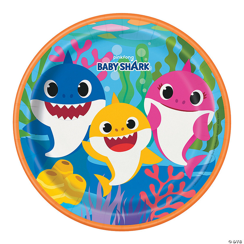 Baby Shark Paper Dinner Plates - 8 Ct. Audio Thumbnail