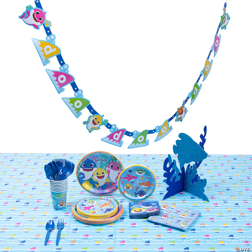 Baby Shark Tableware Kit for 8 Image Thumbnail
