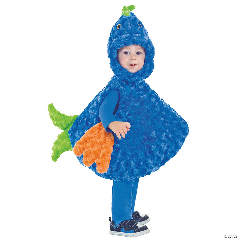 Baby/Toddler Blue & Green Big Mouth Fish Costume Audio Thumbnail