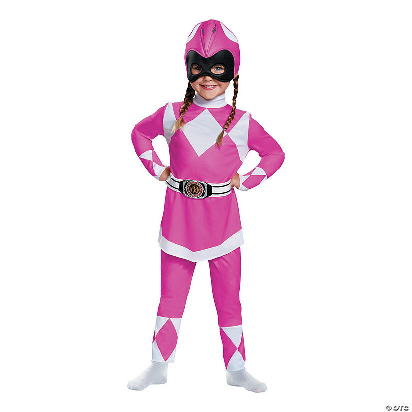 Baby/Toddler Girl's Classic Power Rangers™ Pink Ranger Costume Audio Thumbnail