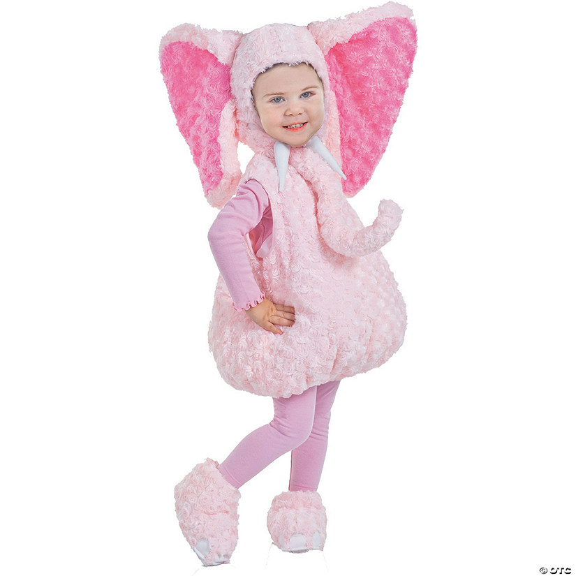 Baby/Toddler Girl's Pink Elephant Costume Audio Thumbnail