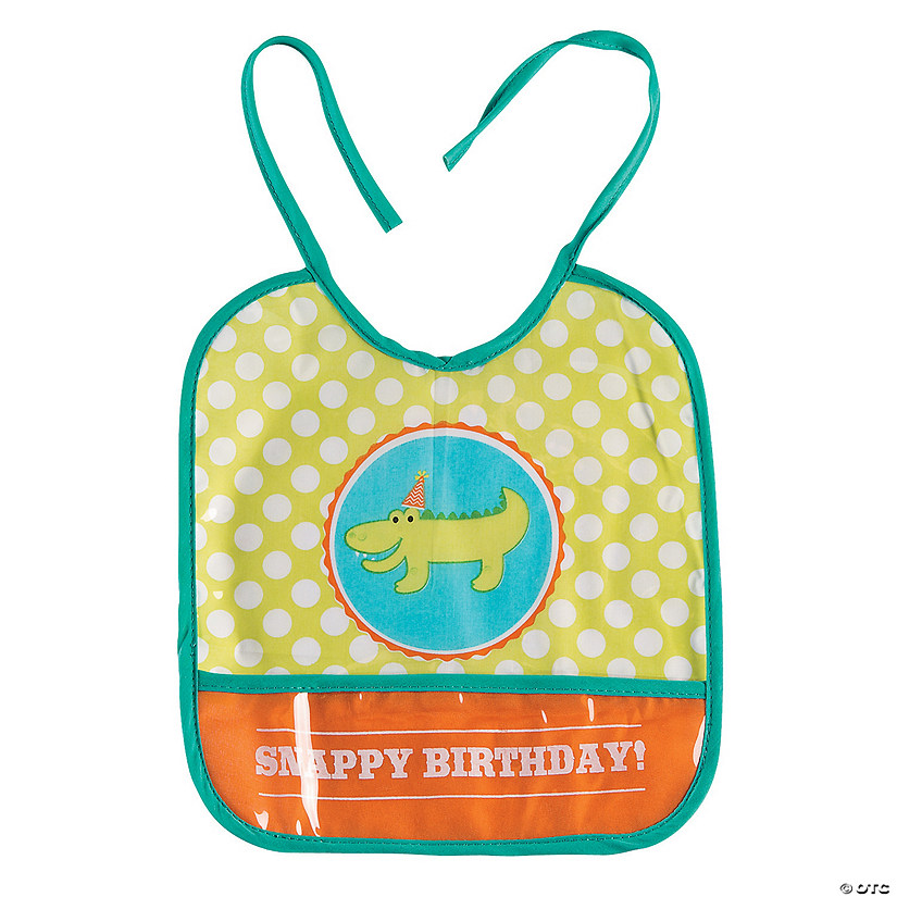 Baby's 1st Birthday Little Alligator Bib Audio Thumbnail