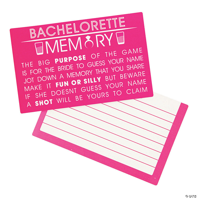 Bachelorette Party Memory Game