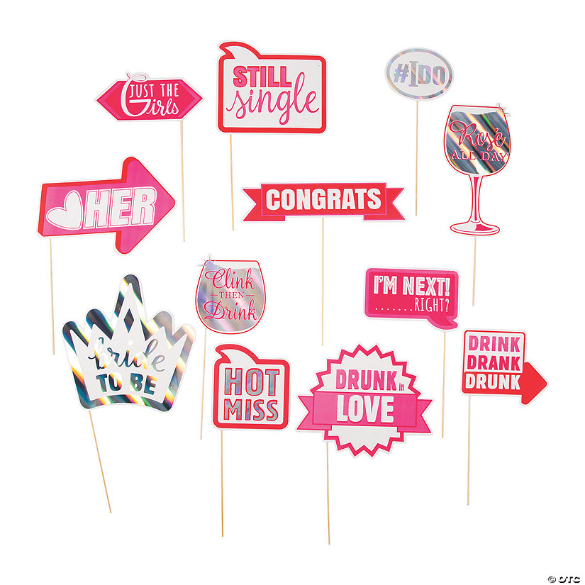 Bachelorette Party Photo Stick Props