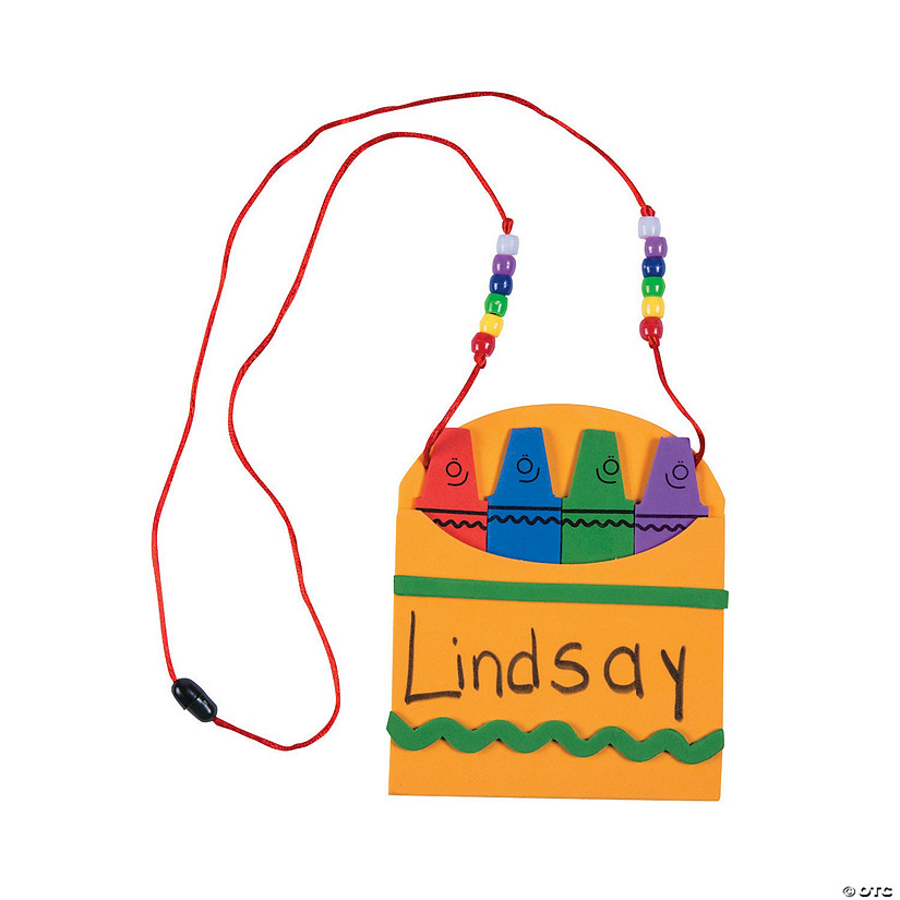 Back-To-School Name Tag Necklace Craft Kit Audio Thumbnail