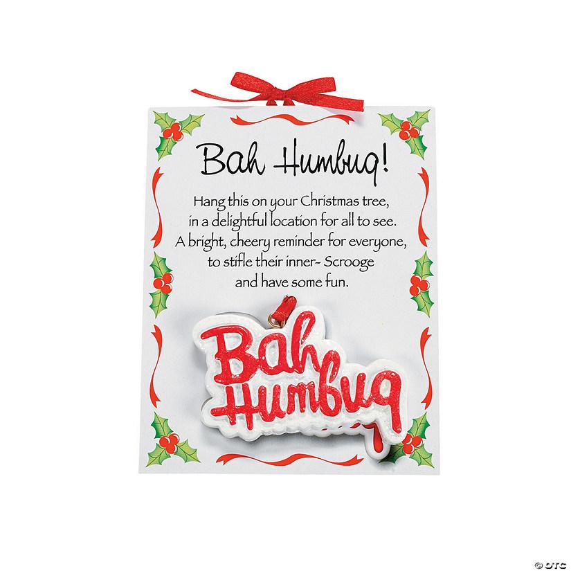 """Bah Humbug"" Ornaments on Card - Discontinued - Bah Humbug"" Ornaments On Card - Discontinued"