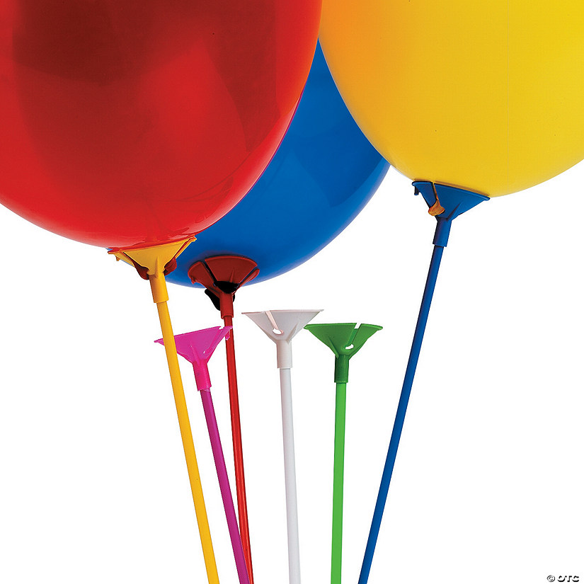 Balloon Sticks with Cups Image Thumbnail