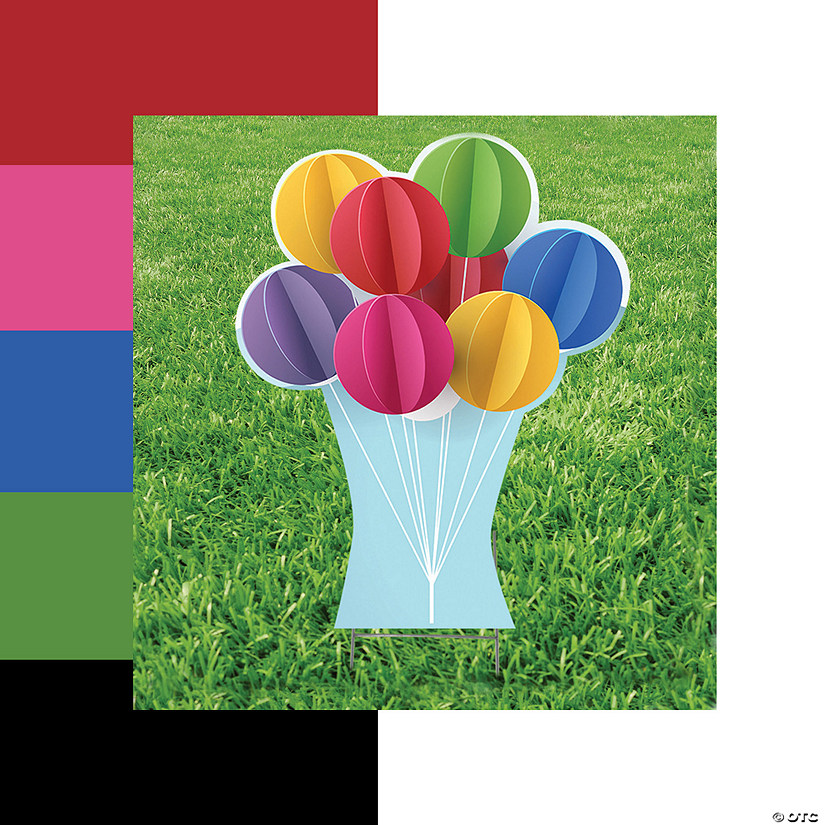 Balloons Yard Sign Image Thumbnail