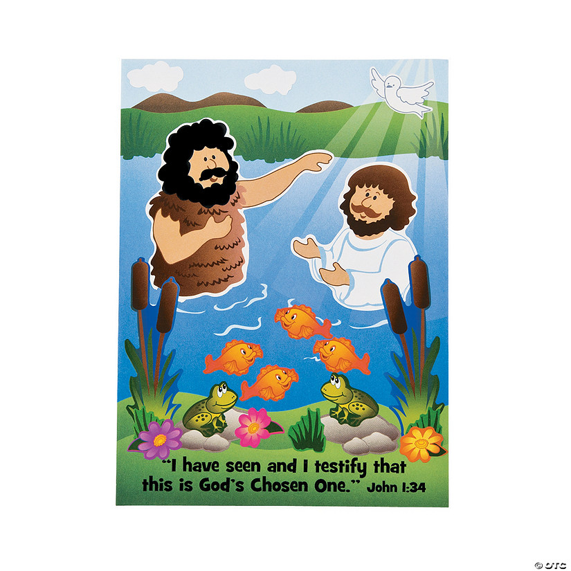 Baptism of Jesus Mini Sticker Scenes Audio Thumbnail