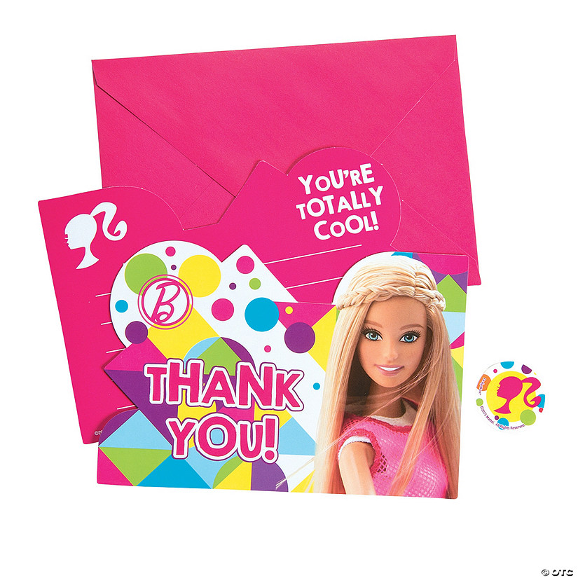 Barbie™ Sparkle Thank You Cards Audio Thumbnail