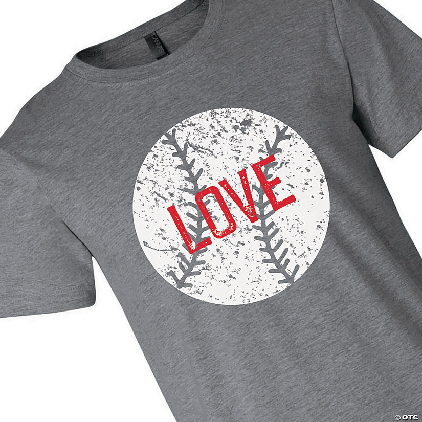 Baseball Love Adult's T-Shirt Image Thumbnail