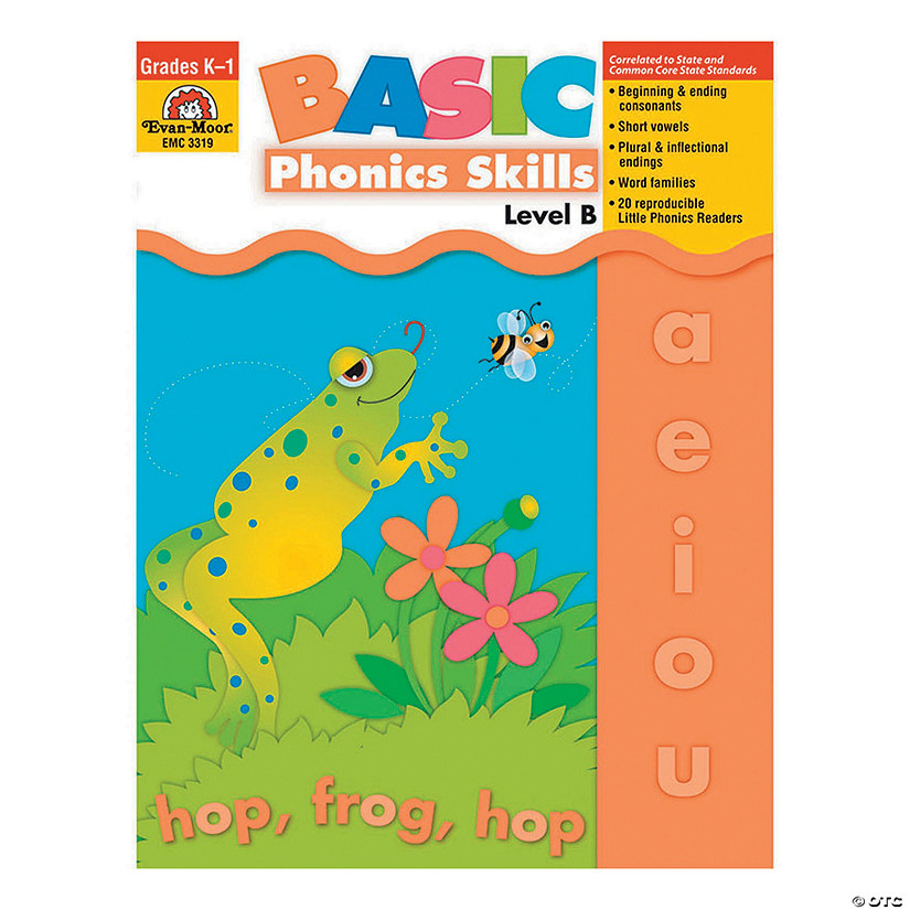 Basic Phonics Skills Book - Teacher Reproducibles, Grade K- 1 (Level B)