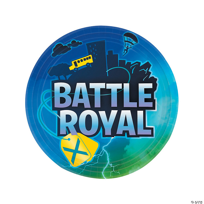 Battle Royal Paper Dinner Plates - 8 Ct. Audio Thumbnail