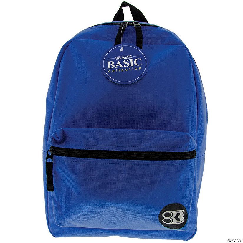 "BAZIC® 16"" Blue Basic Collection Backpack - Qty 3 Audio Thumbnail"