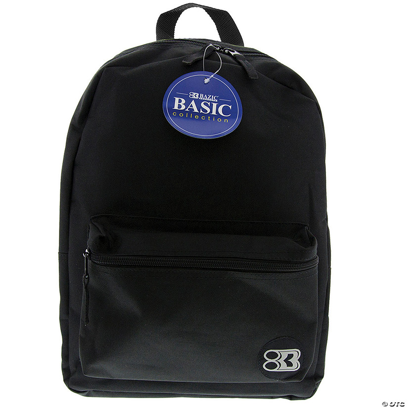 "BAZIC® Basic Collection Backpack - Black, 16"", Qty 3 Audio Thumbnail"