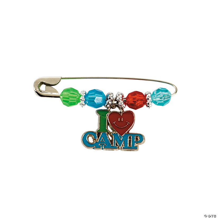 Beaded Camp Charm Pin Craft Kit Image Thumbnail