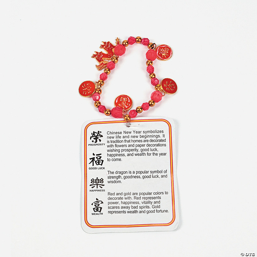 Beaded Chinese New Year Bracelet Craft Kit - Discontinued