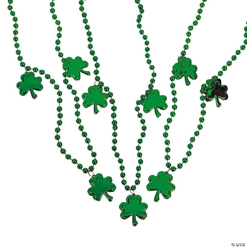 Beaded Necklaces with Shamrocks Image Thumbnail