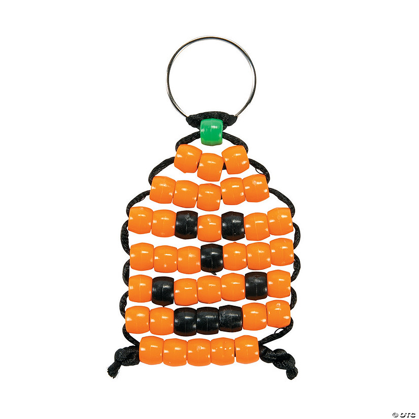 Beaded Pumpkin Keychain Craft Kit Audio Thumbnail