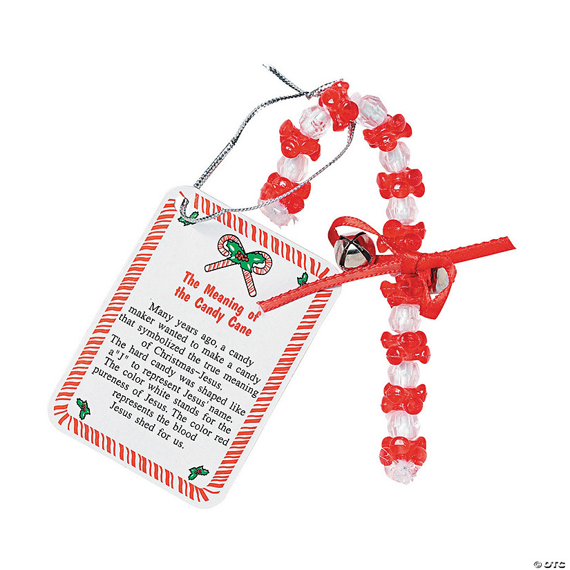 """- Beaded €�The Meaning Of The Candy Cane"""" Christmas Ornament Craft Kit"""