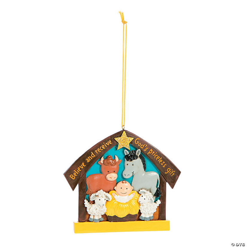 Believe and Receive Nativity Christmas Ornaments Image Thumbnail