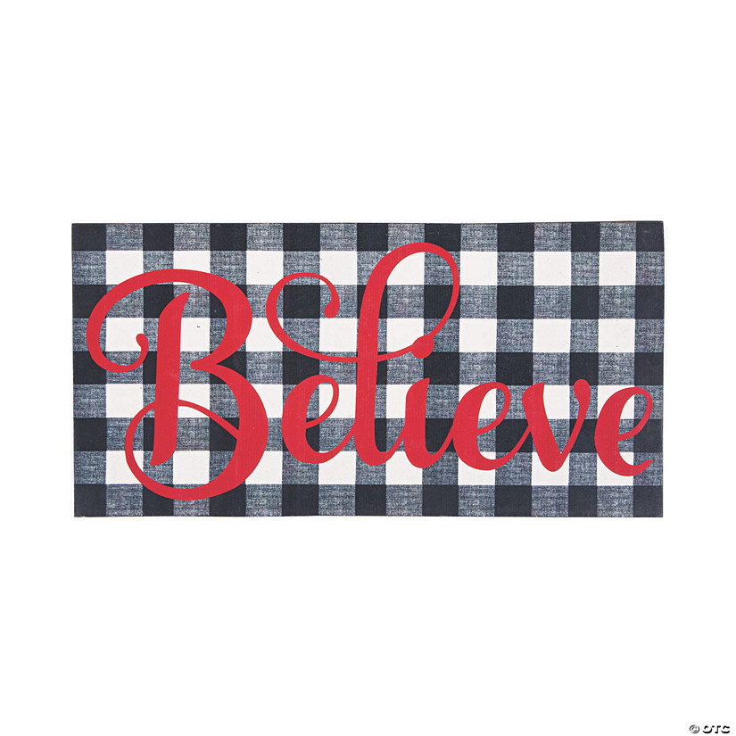Believe Black & White Plaid Sign Audio Thumbnail