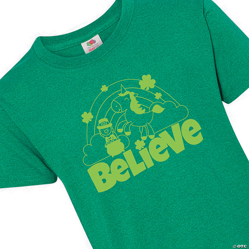 Believe St. Patrick's Day Youth T-Shirt - Medium Audio Thumbnail